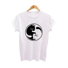 Yin Yang Cat Lovers T-shirt
