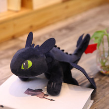 35cm Toothless light Fury How to Train Your Dragon 3 Toys Anime Figure Night Fury Dragon Plush Doll Toys Toys For Children Kids