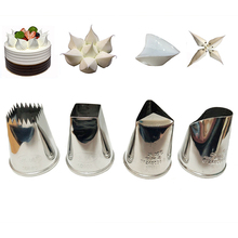 4pcs/set Large Cream Decoration Nozzles Set Stainless Steel Icing Piping Pastry Tips Cupcake Tools