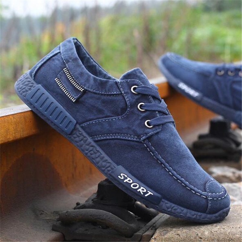 laikihan New high quality men 39 s canvas shoes casual washed denim shoes fashion wild shoes students sneakers men 39 s shoes 38 45 in Men 39 s Casual Shoes from Shoes