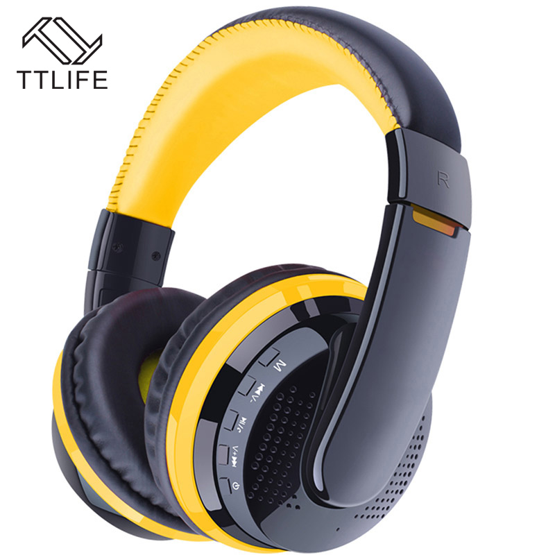 TTLIFE Wireless Bluetooth Headphone with Mic Sport Bluetooth Headset Support APT-X memory card gamer for xiaomi Phone huawei ttlife original bluetooth v4 1 earphone wireless in ear stereo headset waterproof apt x sport headphone with mic for ios android