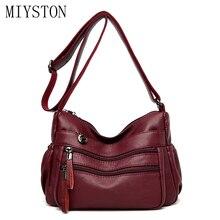 купить Women Messenger Bags Multipurpose Crossbody Bags Ladies Soft Leather Handbags For Women Designer Tote Shoulder Bags по цене 1153.47 рублей