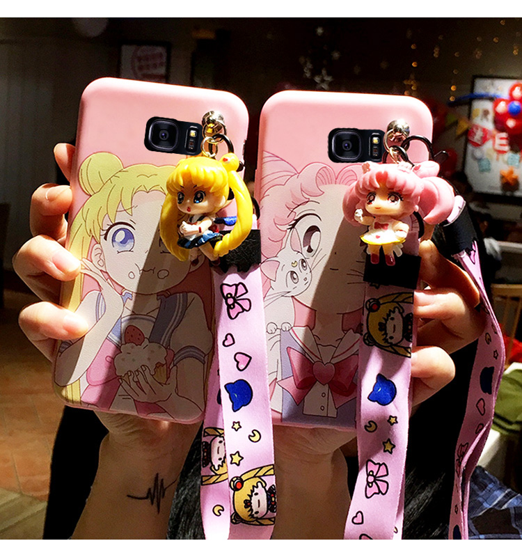 SAM S10 plus Cute 3D Sailor Moon phone case For <font><b>Samsung</b></font> Galaxy S7 Edge S8 S9plus <font><b>S10E</b></font> note8/note9/10 Cartoon girl back cover image