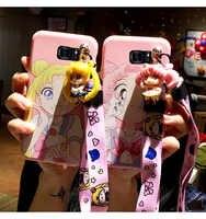 SAM S10 più Carino 3D Sailor Moon cassa del telefono Per Samsung Galaxy S7 Bordo S8 S9plus S10E note8/note9 della ragazza del fumetto della copertura posteriore