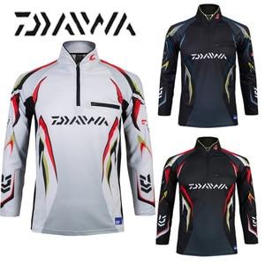 Image 5 - Daiwa brand fishing shirt Summer new men professional fishing t shirts UPF 50+ sunscreen clothing breathable fishing shirt