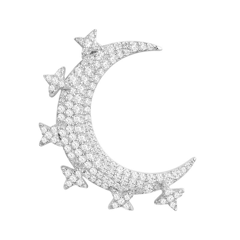 все цены на Monaco Stud Earrings For Women Brand SKA Fine Jewelry 925 Sterling Silver Meteorites Inlaid Crystal Fashion Earring AE10656OX