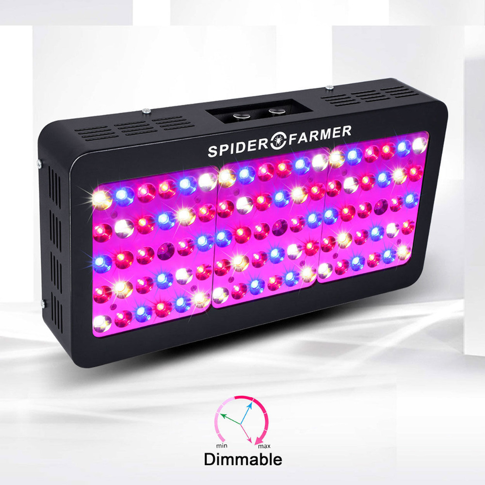 Spider Farmer Dimmable LED 450W Grow Light Epistar Full Spectrum for mini greenhouse or indoor garden hydroponic system spider farmer dimmable led 300w grow light full spectrum hydroponic systems for seeds indoor plants in agricultur greenhouse