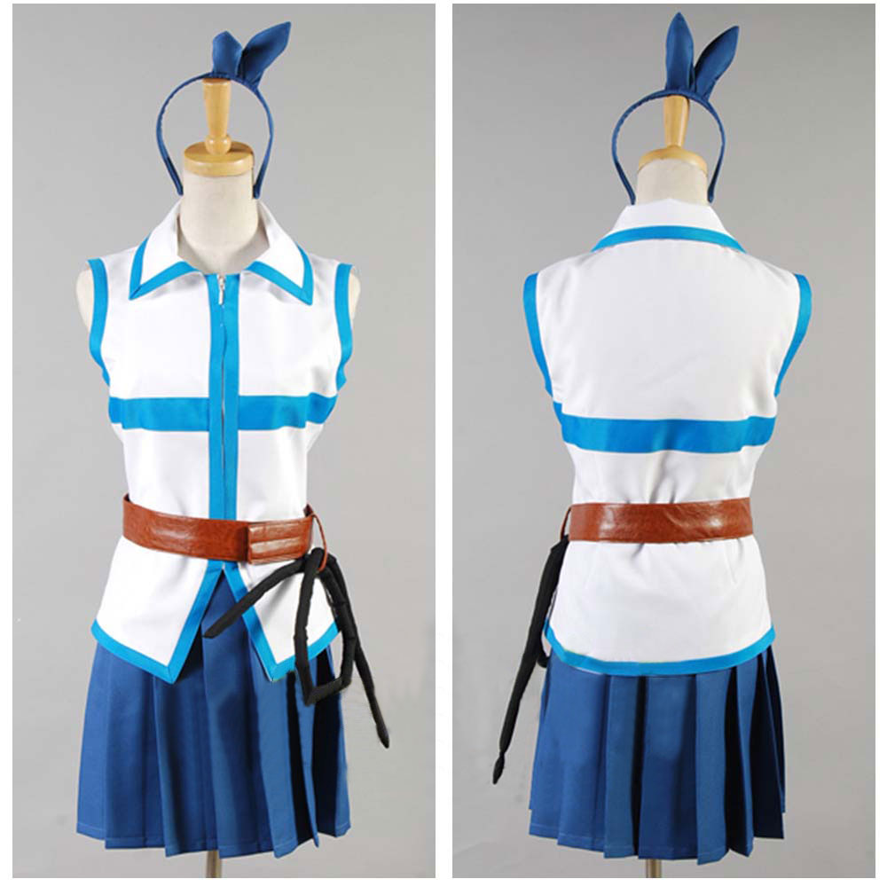 FAIRY TAIL cosplay Lucy Heartfilia Cosplay Costume top+shirt Dress Anime  full set Outfit Women - Online Buy Wholesale Fairy Tail Lucy Heartfilia Costume From China