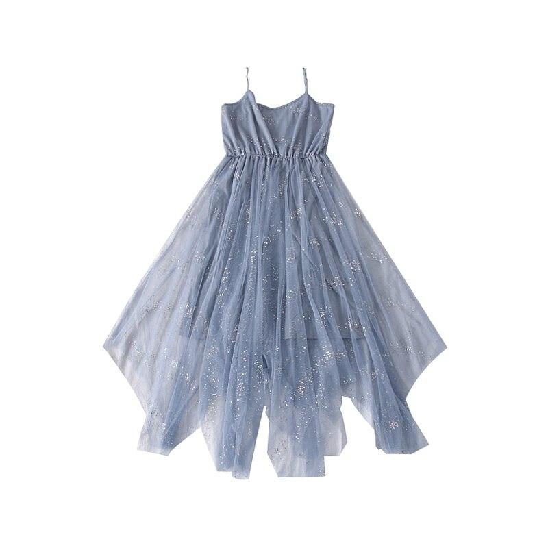 Sweet Bling Shinny Basic Mesh Dress 2019 Spring Summer New Korean Women's Dresses Elegant Irregular Dress for Women Female 6