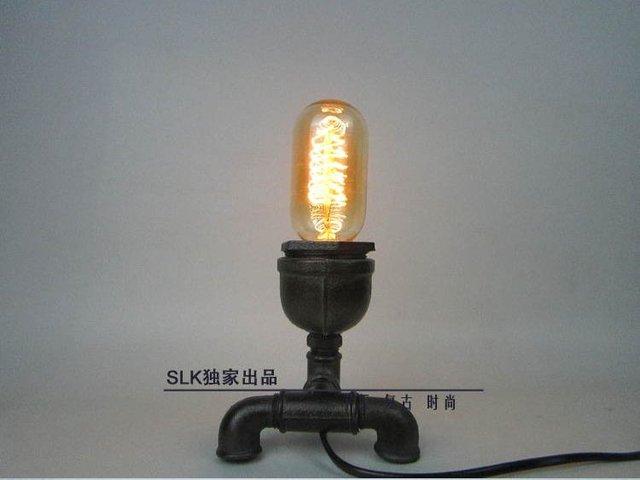 Lampada Vintage Industriale : Vintage industrial retro stile tubo di acciaio scrivania lampada da