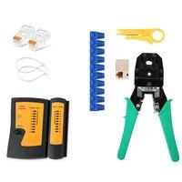Professional Portable RJ45 RJ12 CAT5 CAT5e Portable LAN Network Tool Kit Utp Cable Tester AND Plier Crimp Crimper Plug Clamp PC
