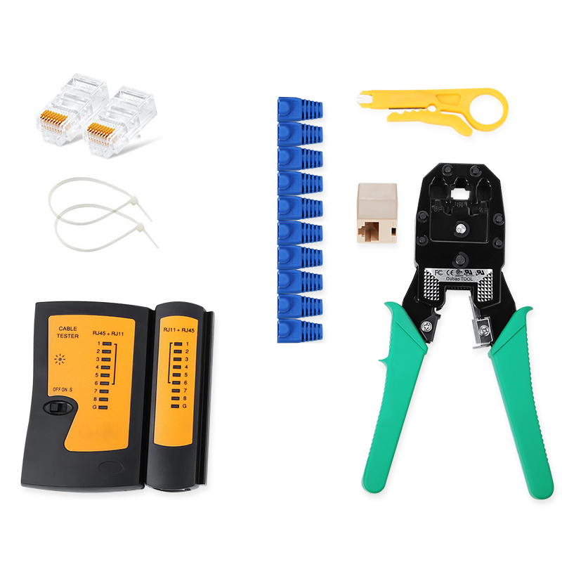 Professional Portable RJ45 RJ12 CAT5 CAT5e Portable LAN Network Tool Kit Utp Cable Tester AND Plier Crimp Crimper Plug Clamp PC