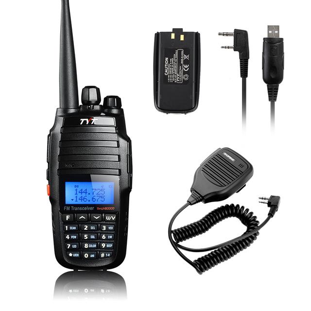 W / 1 adicional de la batería TYT TH-UV8000D 10 W transceptor Walkie Talkie de doble banda Radio de dos vías + Baofeng altavoz Mic + Cable de programación USB