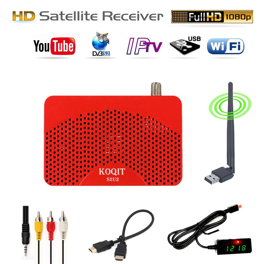 HD S2U2 IPTV m3u FTA Receiver IKS TV BOX Cline Combo Record EPG 1080P DVB S2