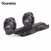 Tactical Quick Detach Cantilever Scope Ring Mount 25mm 30mm Dual Ring 20mm Rail Auto Lock Heavy Duty Rifle Scope Mount