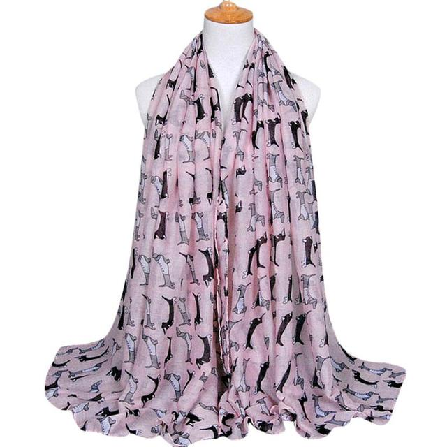 Dachshund Long Voile Scarf