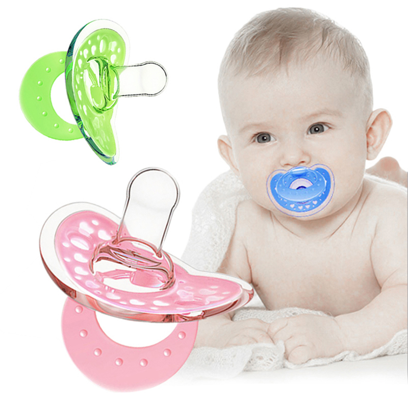 Baby pacifiers safe abs silicone funny baby nipples baby infant teeth soothers..