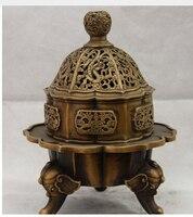 Palacio chino Cobre de Bronce Fu Bat Quemador de Incienso Incensario Patas Elefante copper decoration bronze factory Pure Brass