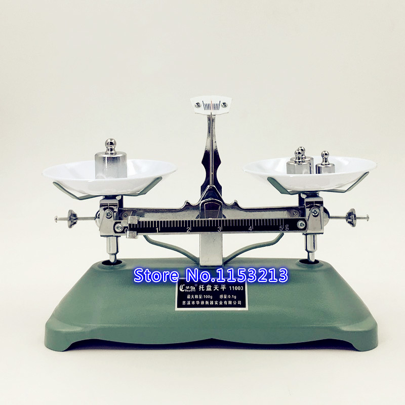 100g/0.1g lab balance Pallet balance Plate rack scales mechanical scales Students Scales for pharmaceuticals With weight tweezer 500g 0 5g lab balance pallet balance plate rack scales mechanical scales students scales for pharmaceuticals with weights