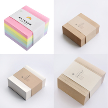 Thicker Memo Pad 400 Sheets Sticky Notes School Supplies Office Stationery N Times Notepad 10x10cm Notice Stickers