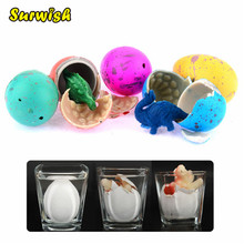Surwish 60pcs/lot Novel Water Hatching Inflation Dinosaur Egg Watercolor Cracks Grow Egg Educational Toys Interesting Gift(China)