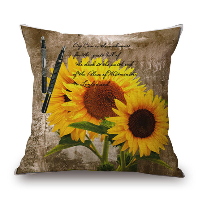 Retro Flowers and Butterflies Cushion Cover