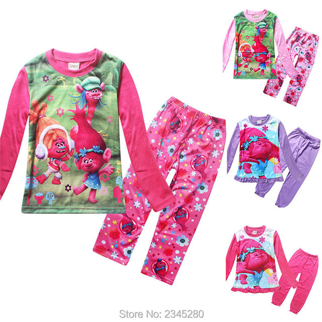 e5838ff06f2e For Girls Clothes Trolls Pyjamas Kids Girl Clothing Sets Christmas ...