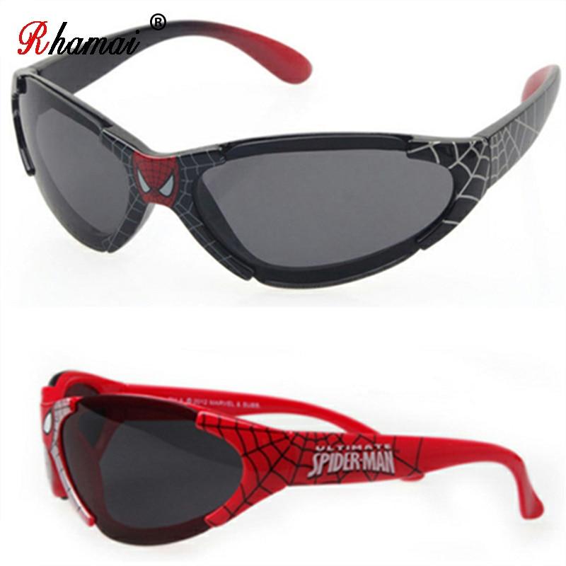 RHAMAI 2019 Kids Boy Sunglasses Child Baby Safety Coating Fashion Spider-Man For Kid UV400 Eyewear Shades Children Sunglasses