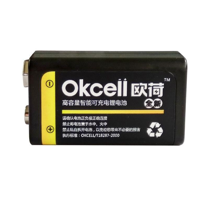 JRGK 800 mAh micro USB batería recargable apagado OKcell Lipo batería 9 V batería para el modelo del helicóptero de RC micrófono para RC helicóptero parte