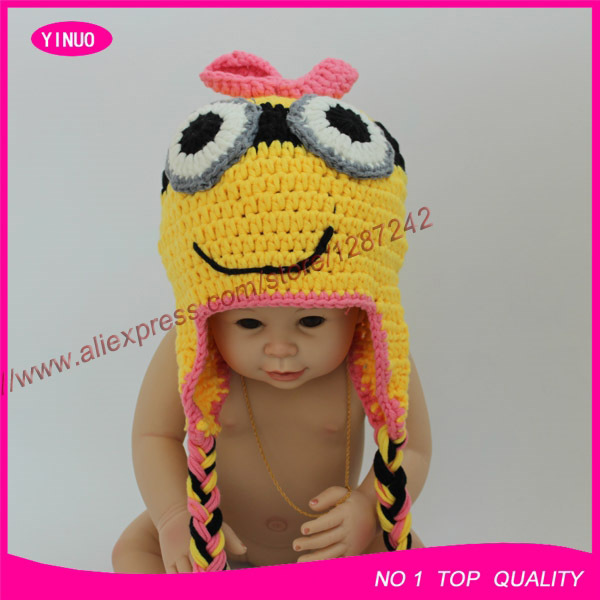 2015 New Fashion Baby Photography Props Animal Baby Hat Knitting
