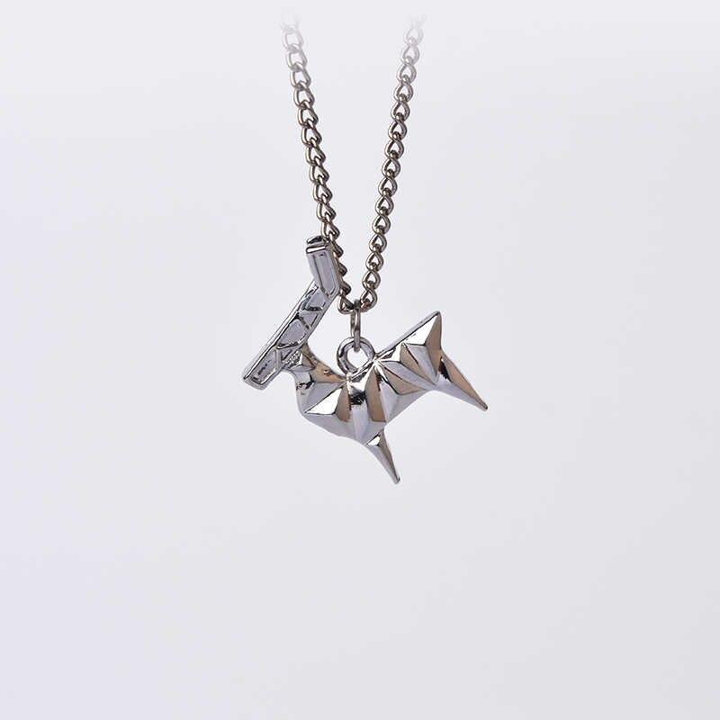 Origami Animais Elk Cervos Colar Pingente Simples E Minimalista Criativo Pet Cadeia Presente Para As Mulheres Homens Moda Gargantilha Jóias