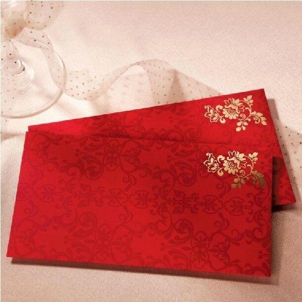 Clical Chinese Envelope For Gift Cards Flower Wedding Invitation Card Envelopes Money Bag