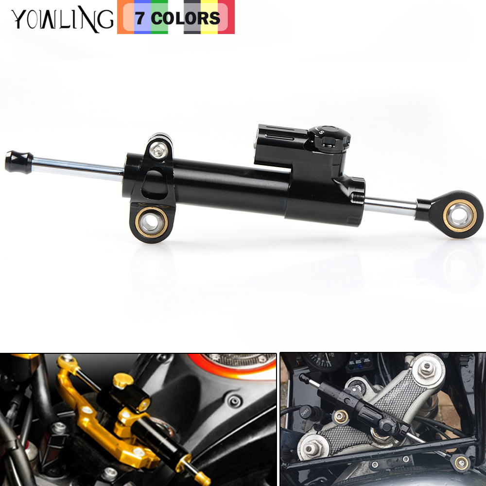 CNC Damper Steering StabilizerLinear Reversed Safety Control Over for bmw f800gs gsxr 1000 goldwing gl1800 honda yamaha YZF R3