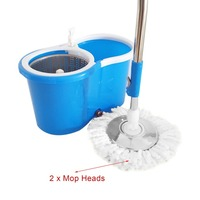 1PC 360 Degree Rotating Microfiber Mop Head Kitchen Bathroom Cleaning Spinning Magic Mop Head Replacement Magic Mop