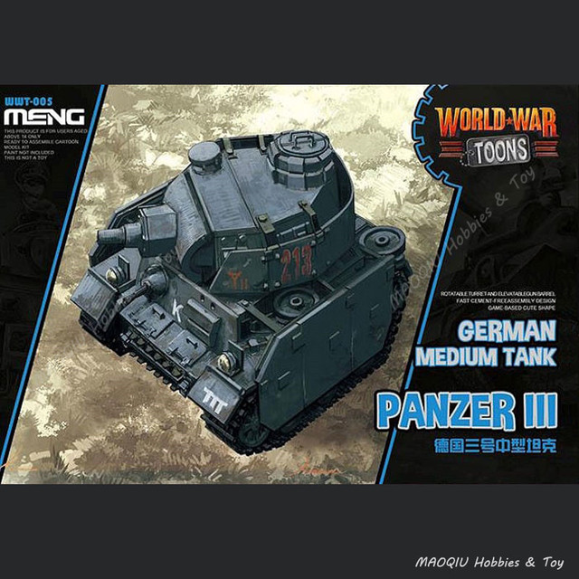US $22 98 |MENG WWT 005 Q Version German Medium Tank Panzer III WWT 005  Military Model Building Kits World War Toons-in Model Building Kits from  Toys