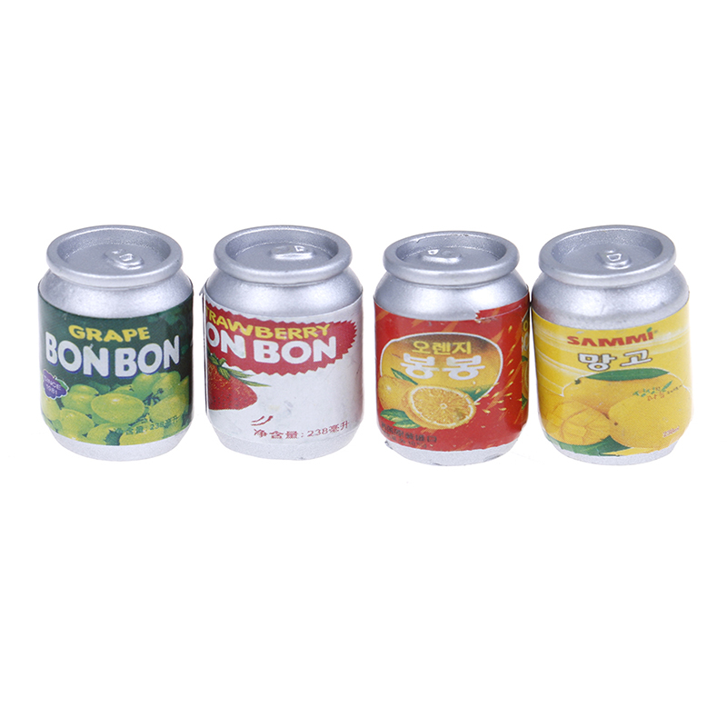 2Pcs Dollhouse Miniature 1//12 Clear Dessert Snack Cans with Half Round Lid
