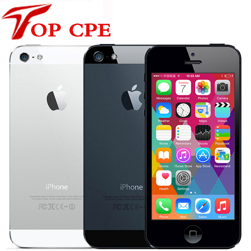 Original Apple iPhone 5 16Gb 32GB 64GB ROM WCDMA Unlocked Mobile phone Dual-core 1G RAM 4.0