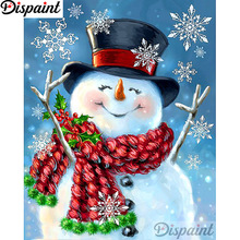 Dispaint Full Square/Round Drill 5D DIY Diamond Painting Snowman snowman Embroidery Cross Stitch 3D Home Decor A12980