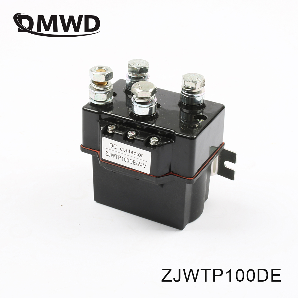ZJWTP100DE ZJW100A SW80 contactor, dc contactor for electrical winch k400 good quality 12V 24V 36V 48V 60V 72V sayoon dc 12v contactor czwt150a contactor with switching phase small volume large load capacity long service life