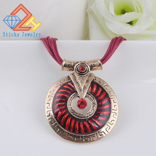 Round pendant necklace vintage jewelry hot cute colorful enamel fashion designer free shipping