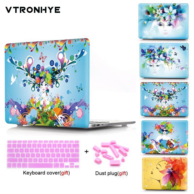 VTRONHYE laptop Case For Macbook Air Pro Retina 11 12 13 15 inch For Macbook Pro 13 15 with Touch Bar+Keyboard cover+Dust plug