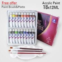 18 farben 12ml farbe set acrylfarbe keramik malen glas farbe malen glas zeichnung hand bemalt pigmente
