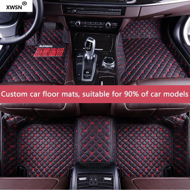 Custom car floor mat for Volkswagen All Models vw passat b5 6 polo golf tiguan jetta touran touareg auto accessories styling