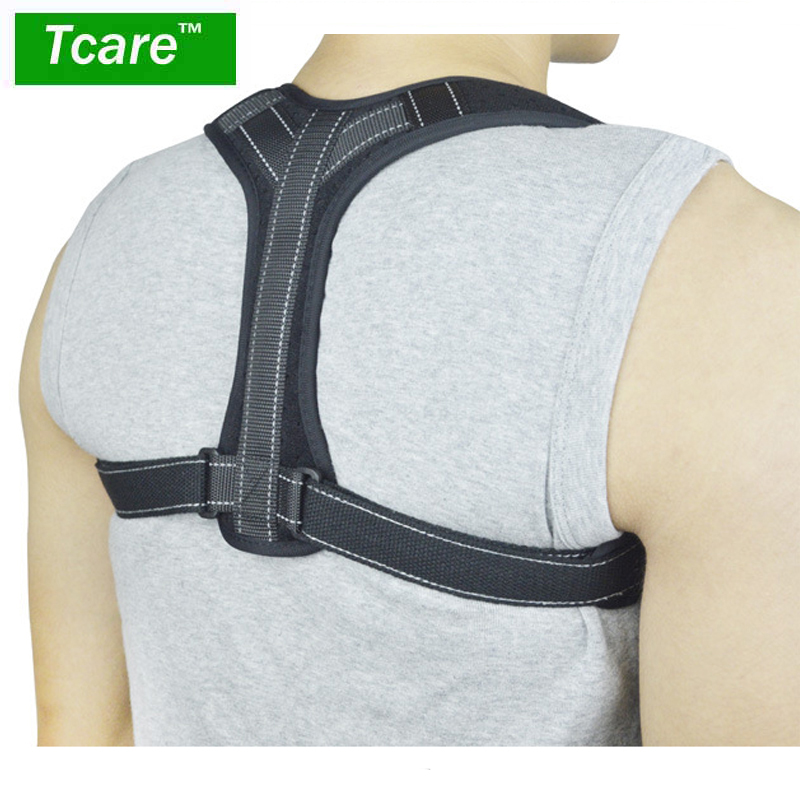 1Pcs Adjustable Posture Corrector, Reflective Stripe Back Correct Shoulder Posture Support Strap Back Support Belt Shaper
