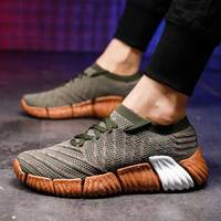 MWY New Spring Autumn Fly Knit Sneakers Men Lace Up Breathable Casual Men Shoes Herren Schuhe Height Increasing Outdoor Trainers