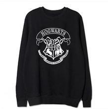 Harry potter hogwarts impresión de la letra de otoño invierno las mujeres de algodón de manga larga t shirts moda o cuello suéteres sueltos clothing tops(China (Mainland))