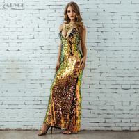 Adyce Strapless Sequined Summer Dress Women Vestidos Verano 2018 Sexy Hollow Out Backless Sequin Party Dress Backless Maxi Dress