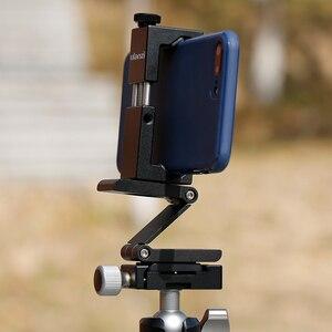 Image 4 - Ulanzi ST 02Sアルミ電話三脚マウント回転垂直水平電話ホルダーwコールド靴iphone × 8 7 プラス