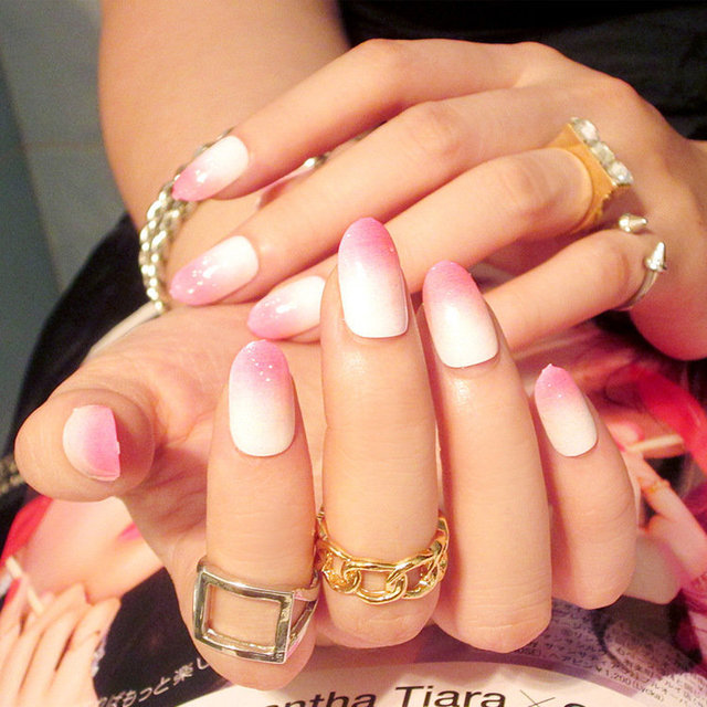 New 24pcs/set fashion style elegant Acrylic full cover False nails ...