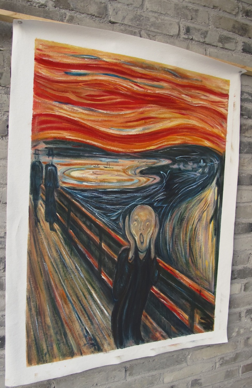 Yağlıboya (Çığlık) Edvard Munch tarafından ünlü yağlıboya - Ev Dekoru - Fotoğraf 2